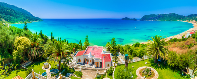 Late Summer! 7-night stay in well-rated hotel in Corfu + cheap flights from London for just £123!