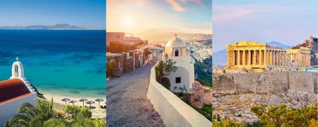 Summer trip to Greece! Mykonos, Athens and Santorini in one trip from Vienna from only €72!