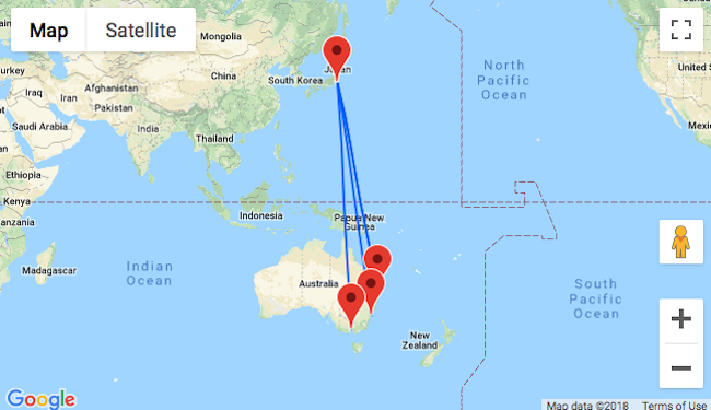 Full Map Of Australia.Cheap Full Service Flights From Australia To Japan From Only Au 499