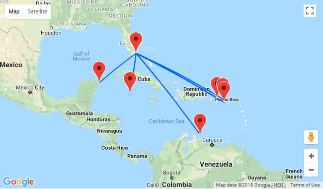 Collection of cheap flights from Miami to the Caribbean from ...