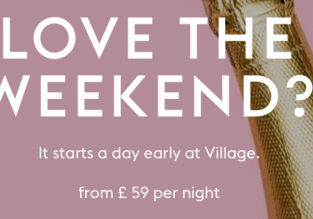 Village Hotels Sale! Double or twin room with two-course dinner and a glass of sparkling wine in one of many UK cities from only £29.5 / €33 per person!