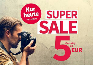 HOT! Cheap flights from Germany, Austria or Switzerland to sunny destinations from only €4 one-way!