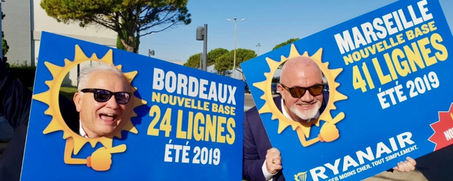 Ryanair to open 2 new bases in Marseille and Bordeaux! 27 new routes!