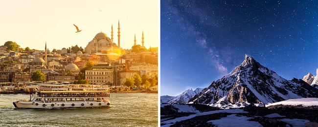 2 in 1: Pakistan and Turkey in one trip from London from only £261!