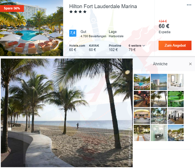 4* Hilton Fort Lauderdale Marina In Florida For Only €60