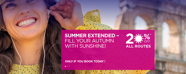 20% discount on all Wizz Air routes! Open to everyone!