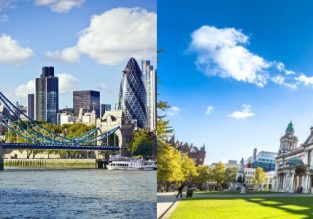 Cheap flights from Belfast to London and vice-versa for only £9!