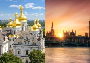 Cheap flights from Ukraine to London and vice-versa from only €18/£19!