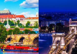 Cheap flights from Brussels to Budapest or Prague and vice-versa from only €15!