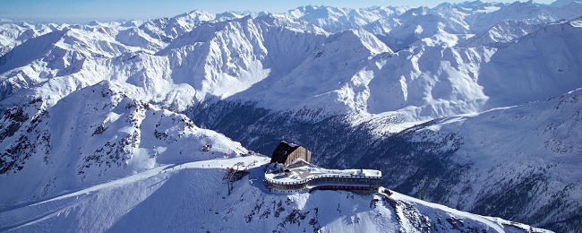 Ski Season at Europe's highest-altitude hotel! Half Board stay at Glacier Hotel Grawand in South Tyrol Alps, Italy from €59/ $65 pp!