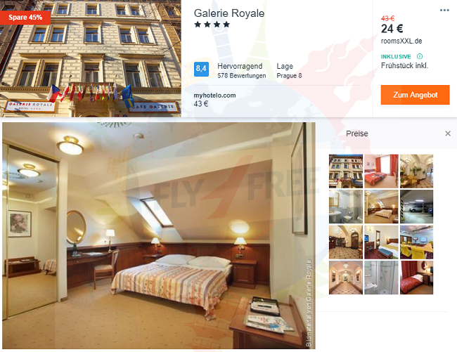 4 Hotel Galerie Royale In Prague For Only 24 12 11 Pp Incl