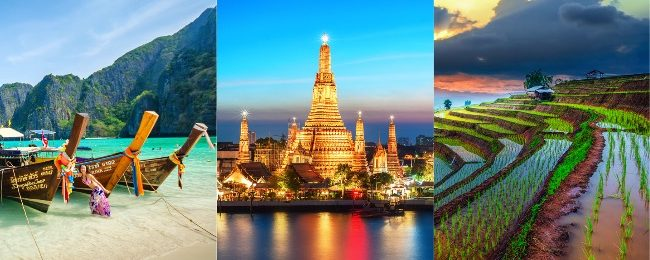 Discover Thailand! Bangkok, Phuket, Phi Phi Islands, Krabi, Koh Samui, Koh Phangan and Chiang Mai in one trip Paris, Rome or Frankfurt from €345!