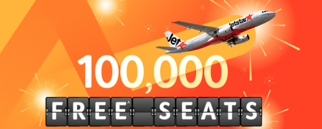 Jetstar Singapore SALE! 100 000 free seats available (excl. taxes and fees)!