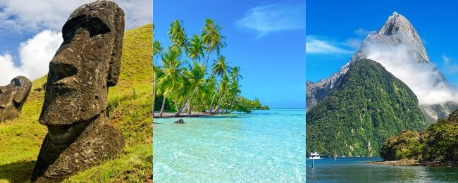 WOW! Brazil, Chile, Easter Island, French Polynesia and New Zealand in one trip from Paris for €1439!