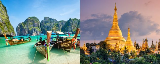 High season! Cheap flights from London to Phuket or Bangkok, Thailand and Yangon, Myanmar from only £277!