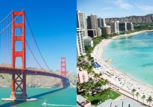 Late Summer! Both Oahu & Maui islands, Hawaii and California in one trip from Frankfurt for €558!