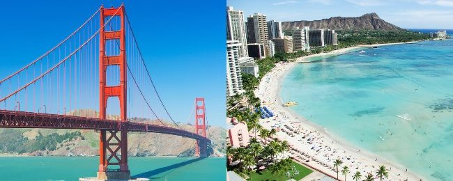 Late Summer Hawaiian Island Hopper + California from Stockholm from €585! Visit San Francisco, Maui, Oahu and Big Island!