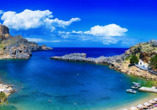 Sunny break in Rhodes! 7 nights at well-rated aparthotel + cheap flights from Rome for just €117!
