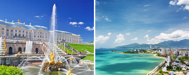 4 in 1: Moscow, St. Petersburg, Lake Baikal & Nha Trang, Vietnam in one trip from Hungary for €377!