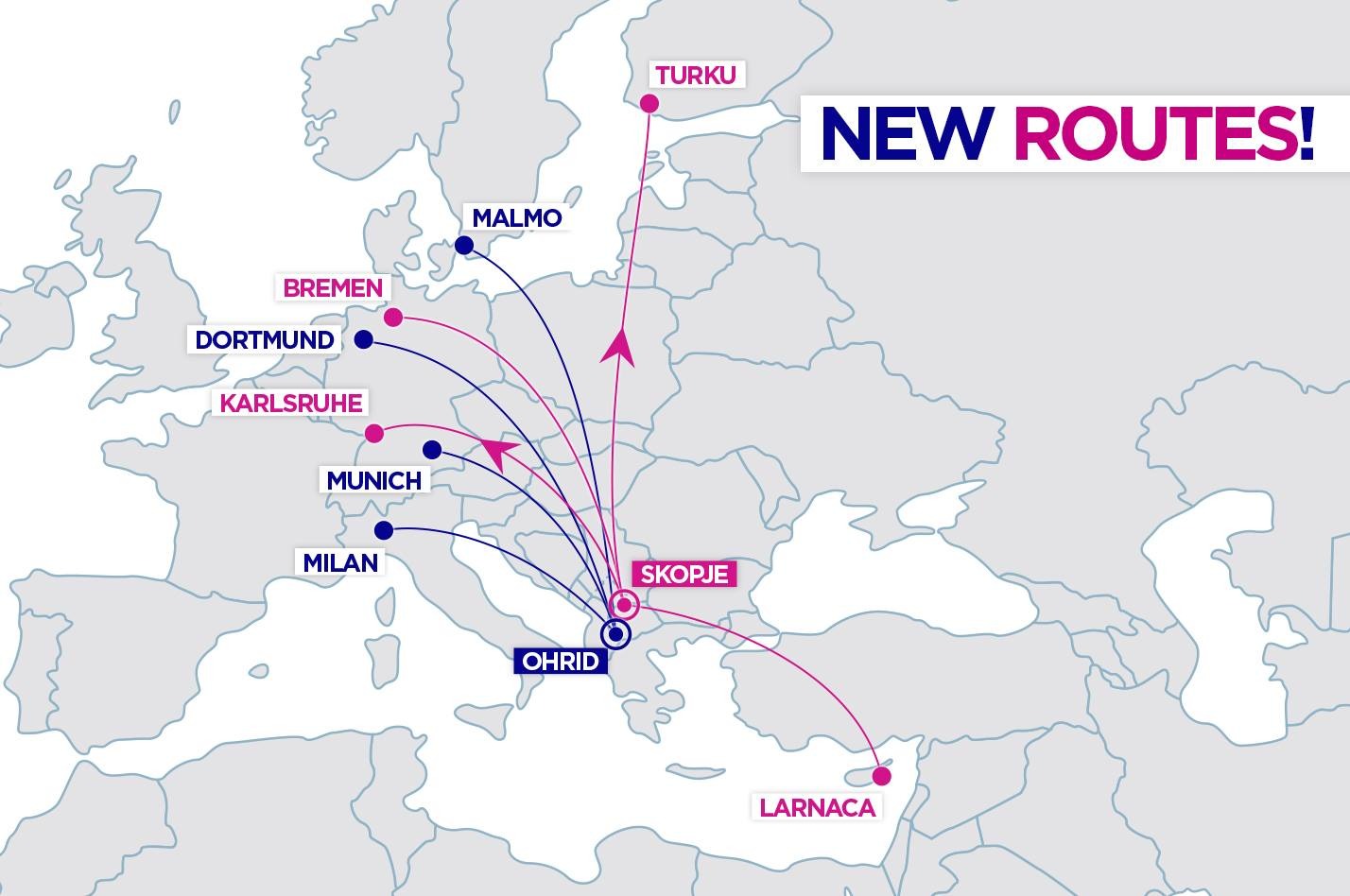Wizzair Announces 8 New Routes From To Republic Of Macedonia