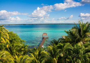 Spring break on stunning Bacalar Lagoon, Mexico! 7 nights at top-rated bungalows resort + cheap flights from New York for just $354!