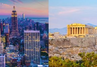 Late summer: Cheap non-stop from Athens to New York and vice-versa from only €309 / $359!