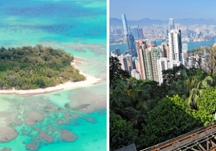 Exotic 2 in 1: Paris to Hong Kong & Northern Mariana Islands for only €503!