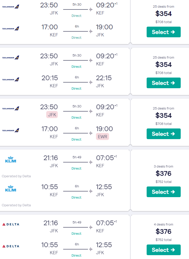 Summer Cheap Non Stop Flights From New York To Iceland From Only 354