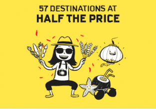 Scoot promo code! Flights from Singapore to many destinations in Asia and Oceania 50% off!