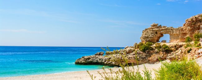 June! 7-night stay in beachfront hotel in Dhermi, Albanian Riviera + flights from Budapest and car rental for €82!