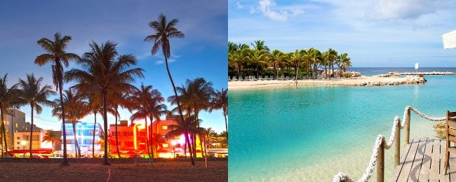 Miami and exotic Curacao in one trip from Italy for €397!