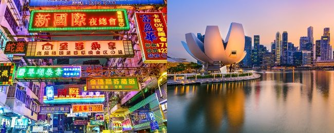WOW! Hong Kong and Singapore in one trip from San Francisco from only $405!
