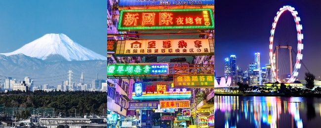 Japan, Hong Kong and Singapore in one trip from San Francisco from only $517!