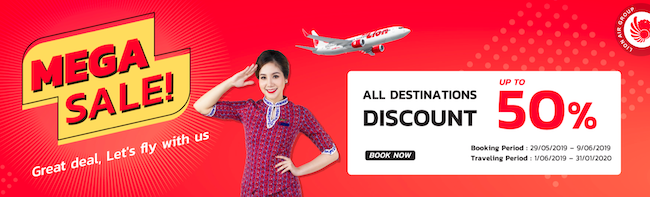 Thai Lion Air Sale! All flights up to 50% off!
