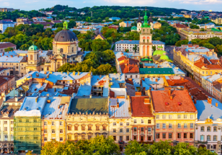 Cheap flights from London, UK to Lviv, Ukraine or vice versa for only £17.98!