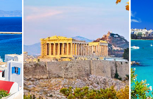 Bari, Mykonos and Athens in one trip from London for only £47!