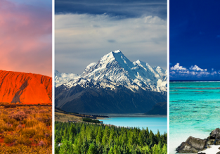 3 in 1: German cities to Australia, Cook Islands and New Zealand in one trip from €795!