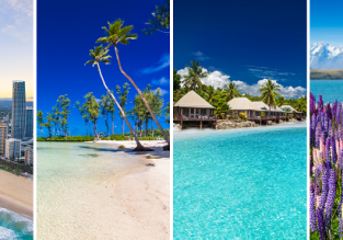 4 in 1! Paris to Australia, Vanuatu, Fiji and New Zealand in one trip for €950!