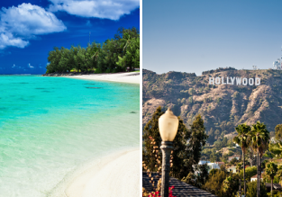 2 in 1: Cook Islands and California in one trip from many European cities from €749!