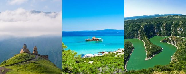 Georgia, Greece, North Macedonia and Serbia in one trip from Vienna from only €58!