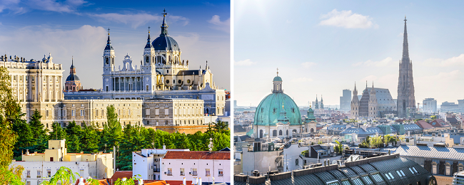 Late summer! Cheap flights from Vienna to Madrid and vice-versa for €20!