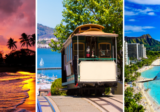 2 in 1: Sweden to both Hawaii and California in one trip for only €441!