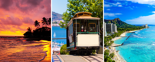 3 in 1 to Hawaii and California: San Francisco, Oahu and Maui in one trip from many European cities for only €633! (incl. checked bag)