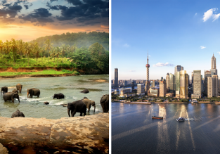 2 in 1: Honolulu to Sri Lanka & Shanghai in one trip for only $534!