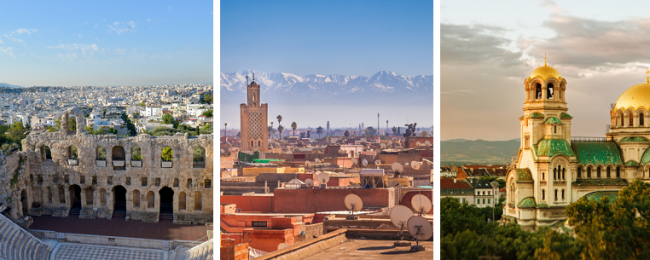 Morocco, Greece and Bulgaria in one trip from Berlin for just €79!