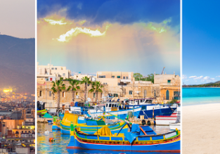 Summer 3 in 1 trip! Mallorca, Barcelona and Malta in from Stockholm just €67!