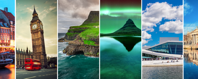 Remote Faroe Islands, Iceland, Norway, Denmark, Ireland and UK in one trip from New York just $654!