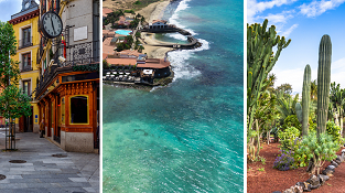 Madrid, Lanzarote, Tenerife, Barcelona and Cape Verde in one big trip from Berlin just €255!