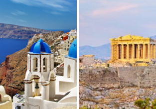 Explore Greece! Athens and Santorini in one trip from London for £45!