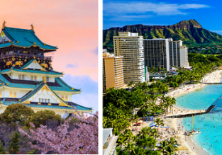 Japan and Hawaii in one trip from Rome just €588!